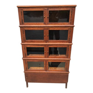5 Stack Oak Barrister Medicine Chest/Barrister Bookcase For Sale