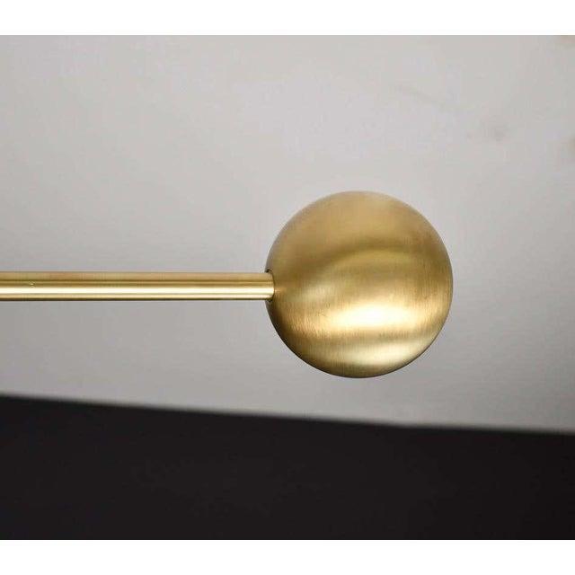 Blueprint Lighting Molto Asymmetrical Pendant Light in Brass & Enameled Mesh by Blueprint Lighting For Sale - Image 4 of 8