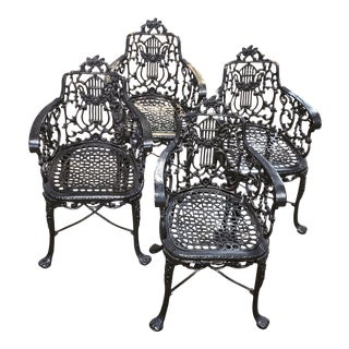 Antique Cast Iron Furniture by Robert Wood For Sale