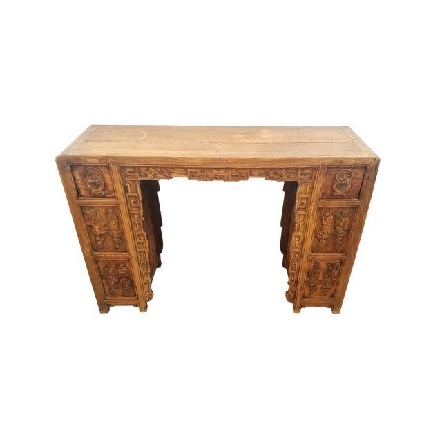 Vintage Asian Carved Desk - Image 1 of 7
