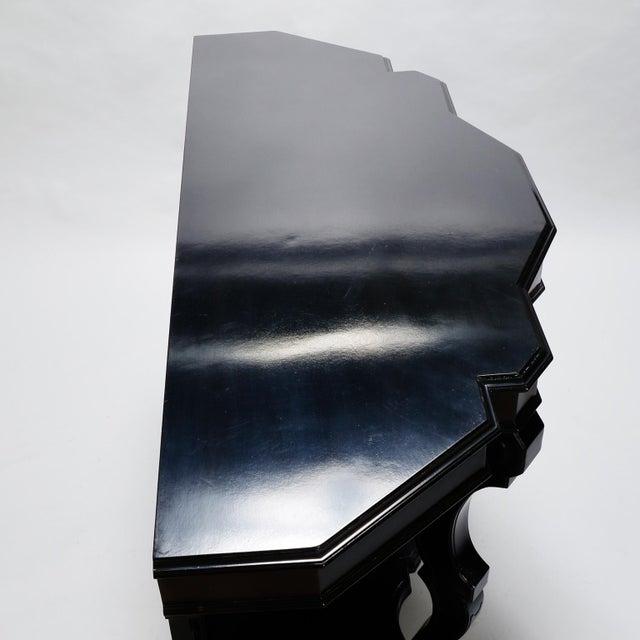 Italian Ebonised Mahogany Console For Sale In Detroit - Image 6 of 10