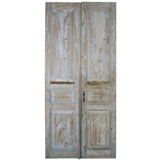 Pair of 19th Century Painted Pine Doors For Sale