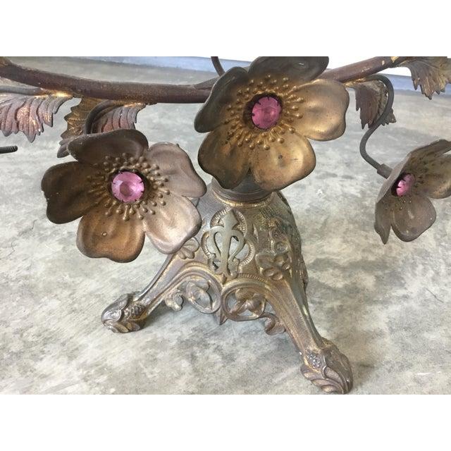 1920s Antique French Gilt Floral Candelabras For Sale - Image 5 of 7