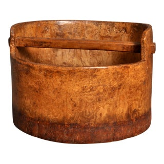 Early 20th Century Burl Wood Bucket For Sale
