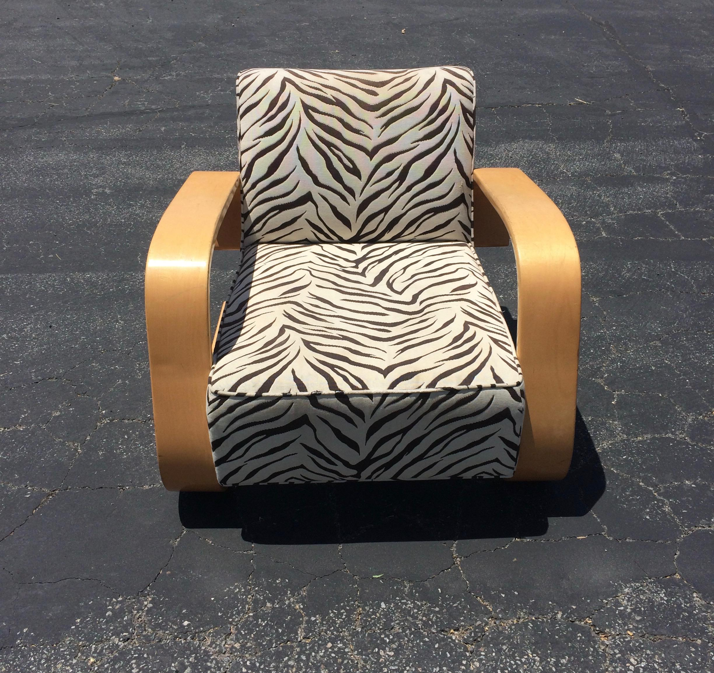 Delicieux Mid Century Zebra Lounge Chair   Image 3 Of 6
