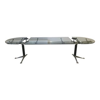 Herman Miller for Bruce Burdick Oval Glass Conference / Dining Table. Largest Size 10ft Long For Sale