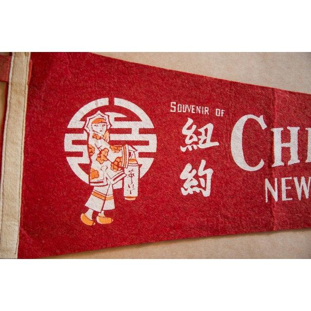 Americana Souvenir Of China Town New York City Felt Flag For Sale - Image 3 of 5