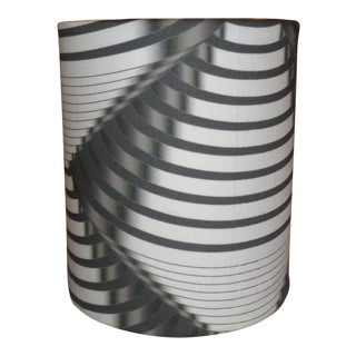 """Art Deco Machine Age Lamp Shade 6 """" Diameter, Designer Fabric (Lou Reed) - for Vintage Lamps For Sale"""