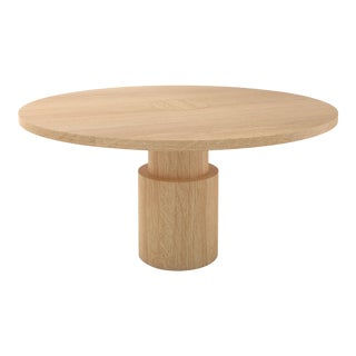 Contemporary 100 Dining Table in Oak by Orphan Work, 2019 For Sale