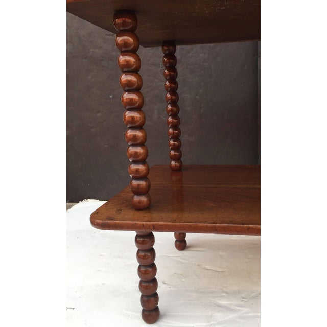 English Console Shelves of Mahogany with Bobbin Turned Supports For Sale - Image 9 of 11