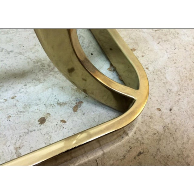 Milo Baughman Style Brass Side Table - Image 6 of 6