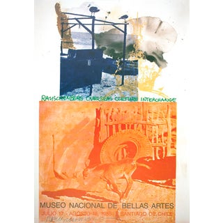 "Robert Rauschenberg-""Roci: Chile"" 1985 Signed Exhibition Poster-1985 For Sale"