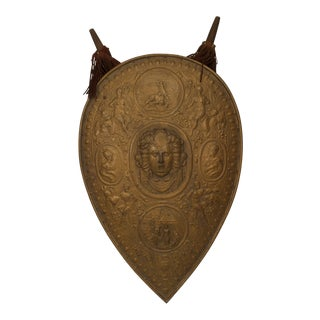 Italian Renaissance Gilt Metal Shield For Sale