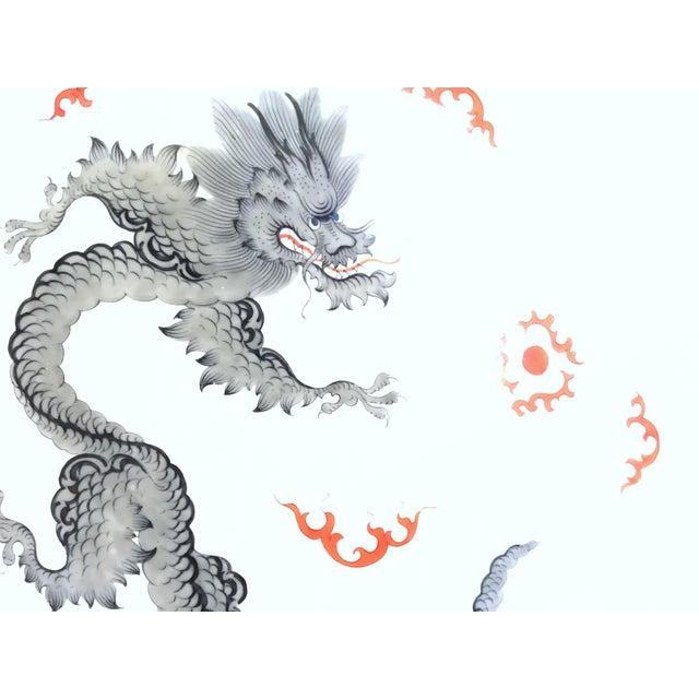 """Meissen German Mint Gray Dragon Crossed Swords 10"""" Dinner Plate - Image 3 of 4"""