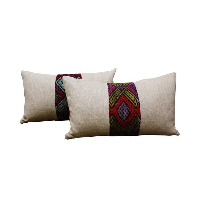 Kilim Band Kidney Pillow - Image 3 of 5
