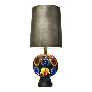 Vintage Multicolored Acrylic Table Lamp For Sale