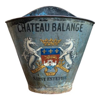 Antique French Grape Hod Wine Bucket For Sale