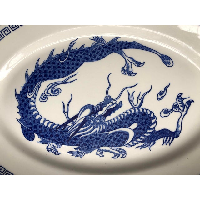 Late 20th Century Double Phoenix Nikko Oval Dishes - A Pair For Sale - Image 5 of 7