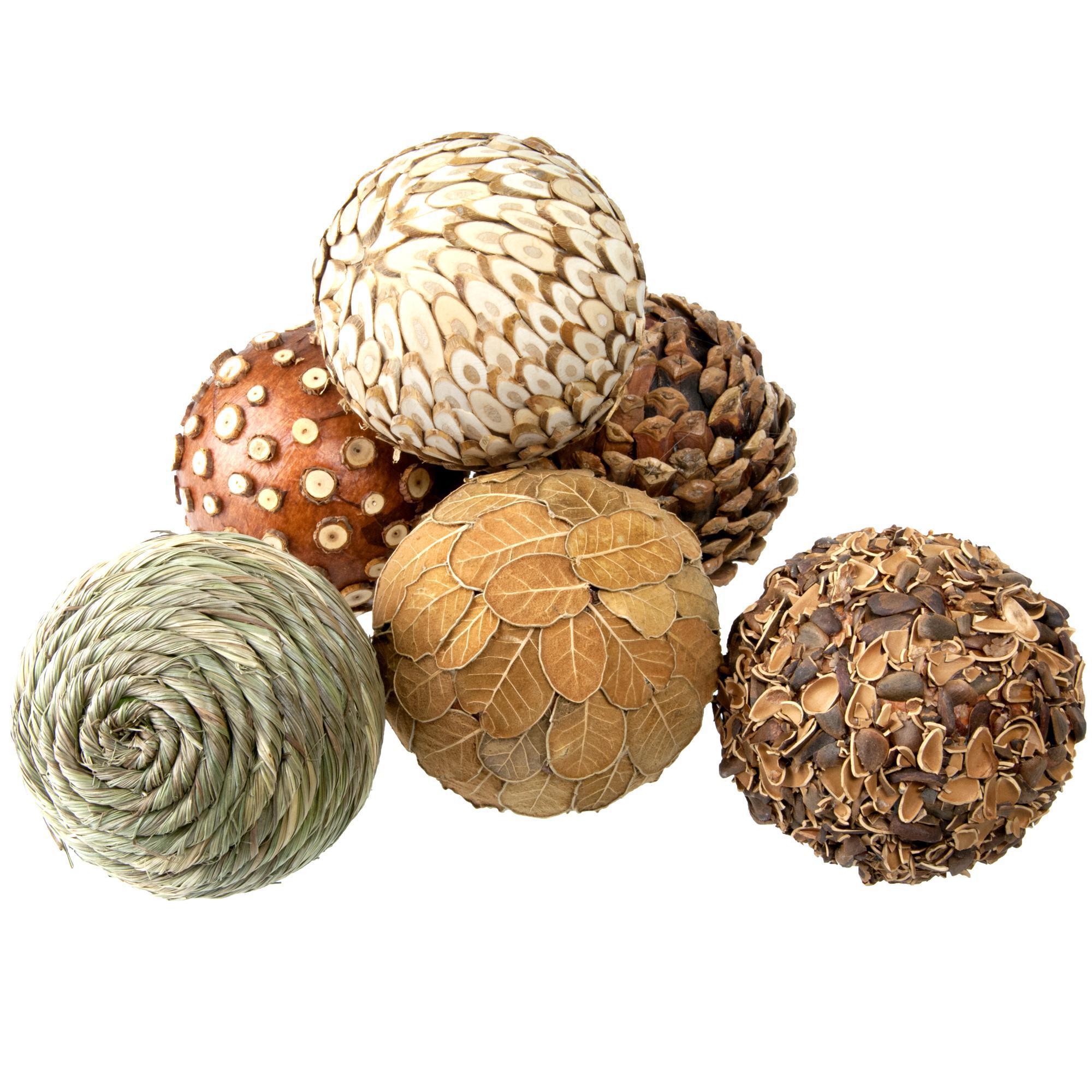 Natural Decorative Balls Impressive Natural Decorative Balls  Set Of 6  Chairish Decorating Inspiration