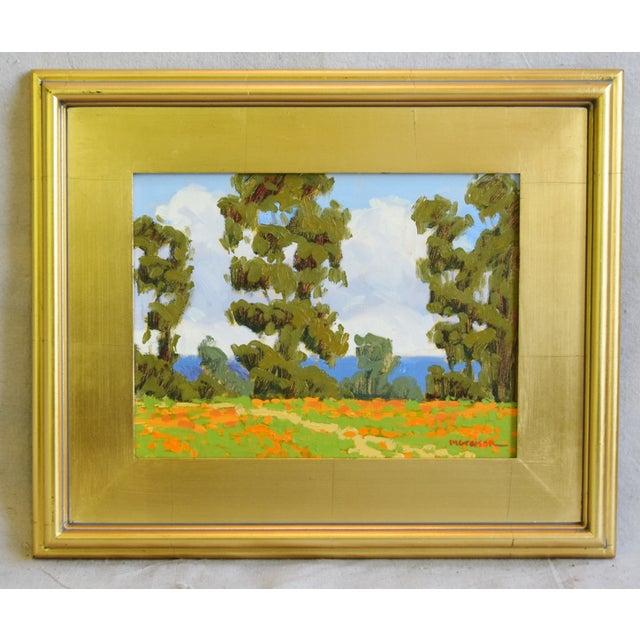 Vintage oil painting on artist canvas panel of the California coast by the artist Marc A. Graison b. 1959. Graison studied...