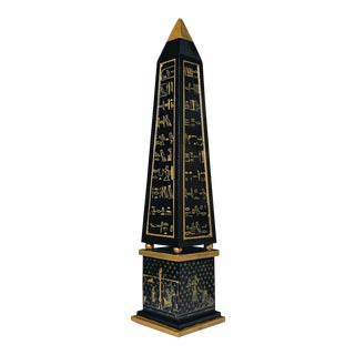Grand Tour Style Free Hand Painted Obelisk For Sale