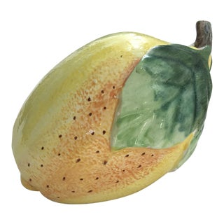 Late 20th Century Vintage Ceramic Lemon Model For Sale