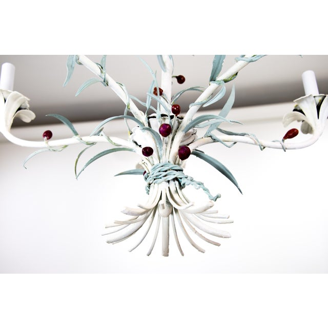 Italian Tole Chandelier For Sale In Providence - Image 6 of 9