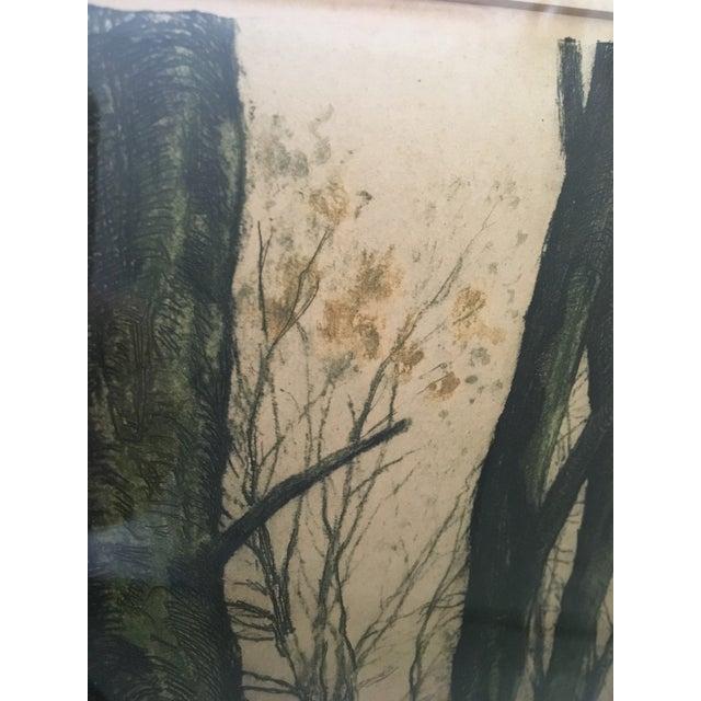 """Canal en Automne (France)"" Signed Henri Jourdain Color Etching For Sale - Image 12 of 13"