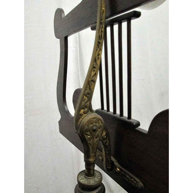 Tindale Carved Mahogany Music Stand For Sale - Image 5 of 7