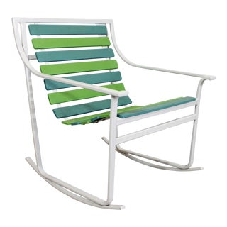 Mid-Century Modern Samsonite Outdoor Tubular Steel Rocking Chair For Sale