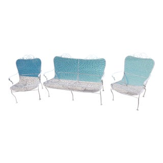 Woodard Mid-Century Modern Patio Furniture Set - 3 Pieces For Sale
