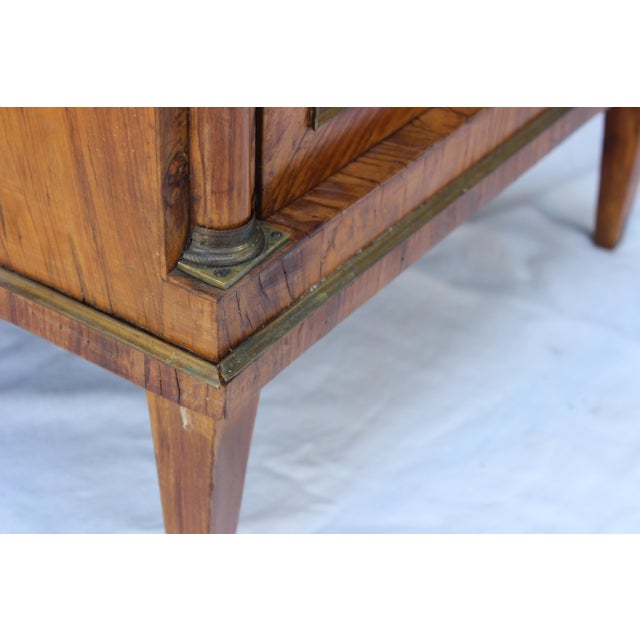 Mid 19th Century 19th Century Italian Fruitwood Nightstand For Sale - Image 5 of 12