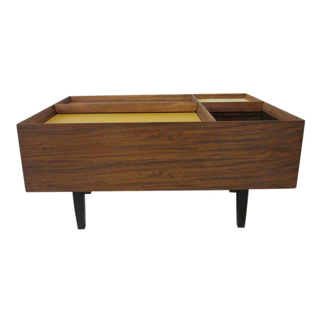 Early Milo Baughman Coffee Table in Exotic Mindoro Wood for Drexel For Sale