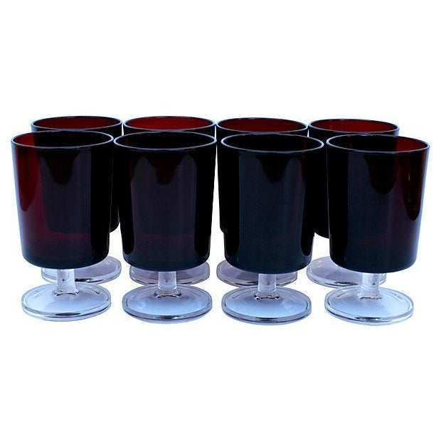 French Red Stemware - Set of 8 - Image 1 of 4