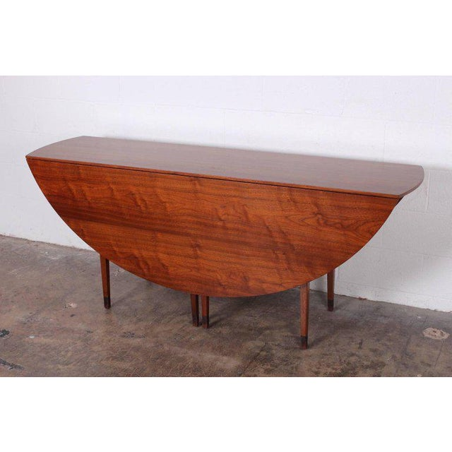 Walnut Drop-Leaf Console Table by Edward Wormley for Dunbar For Sale - Image 10 of 11