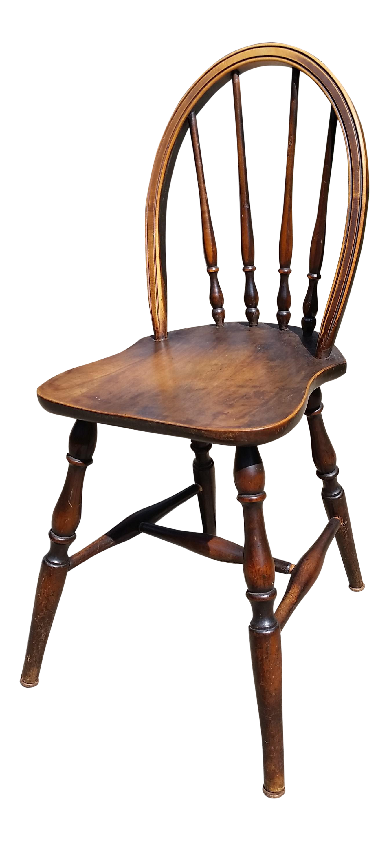 Antique Childrenu0027s Williamsburg Style Bentwood Spindle Back Chair   Image 1  ...