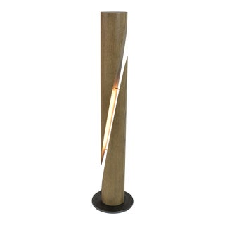 Cleave - Ash Wooden Dowel Table Led Lamp With Steel Base For Sale