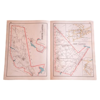 Antique North Castle & New Castle, New York Map
