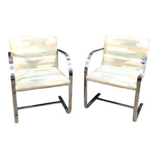 Knoll Brno Flat Bar Cantilever Chrome Chairs- a Pair For Sale