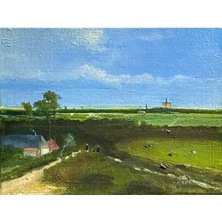 Contemporary Dutch Style Landscape Oil Painting by Satori Gregorakis For Sale