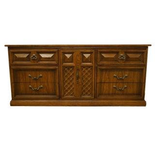"Dixie Furniture Italian Mediterranean Style 70"" Lattice Door Triple Dresser 414-235 For Sale"