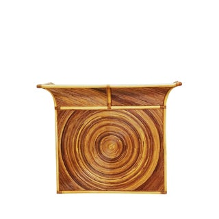 Mid Century Pencil Reed Dry Bar in the Manner of Henry Olko For Sale