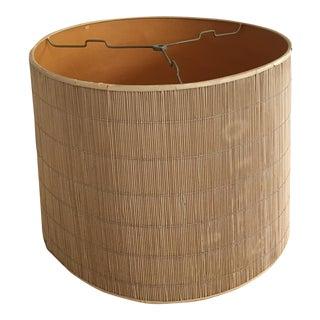 Mid Century Modern Bamboo Drum Lamp Shade