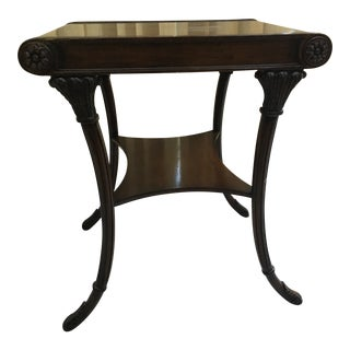 French Regency Nancy Corzine Walnut End Table For Sale