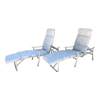 Vintage Tropitone Patio Loungers with Cushions - A Pair For Sale