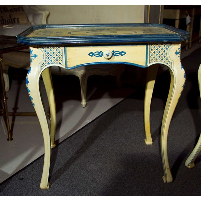 Painted French Side Tables - A Pair - Image 3 of 7