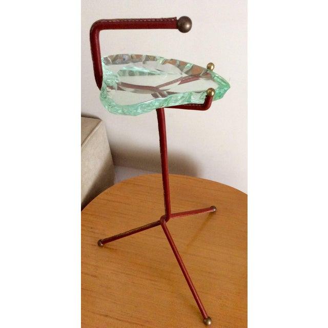 Smoking Stand With Fontana Arte Glass Ashtray - Image 2 of 6