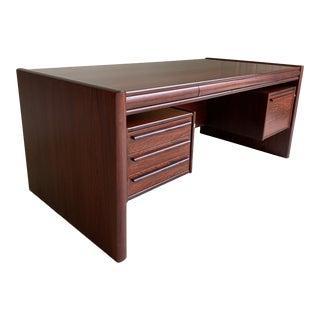 Vintage Rosewood Executive Desk For Sale