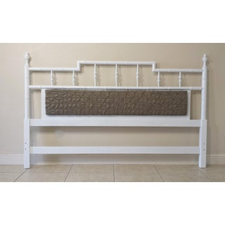 Faux Bamboo Pagoda Style Center Cushion King Size Headboard Preview