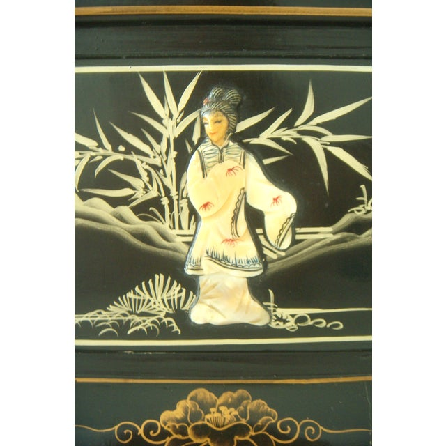 Vintage Lacquered Chinese Lanterns - A Pair For Sale - Image 5 of 9